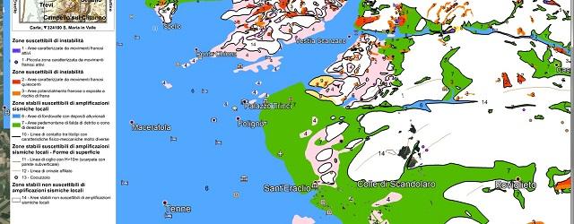 Pericolosità sismica, la mappa di Foligno - Foligno microzonazione sismica 3 - S ERACLIO