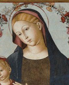 tempera grassa su tela Madonna con Bambino attr Bernardino di Mariotto