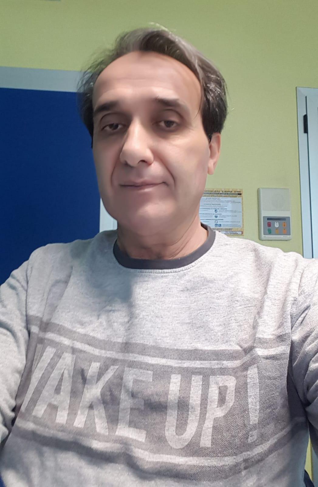 In ospedale a Terni dopo le cure intensive