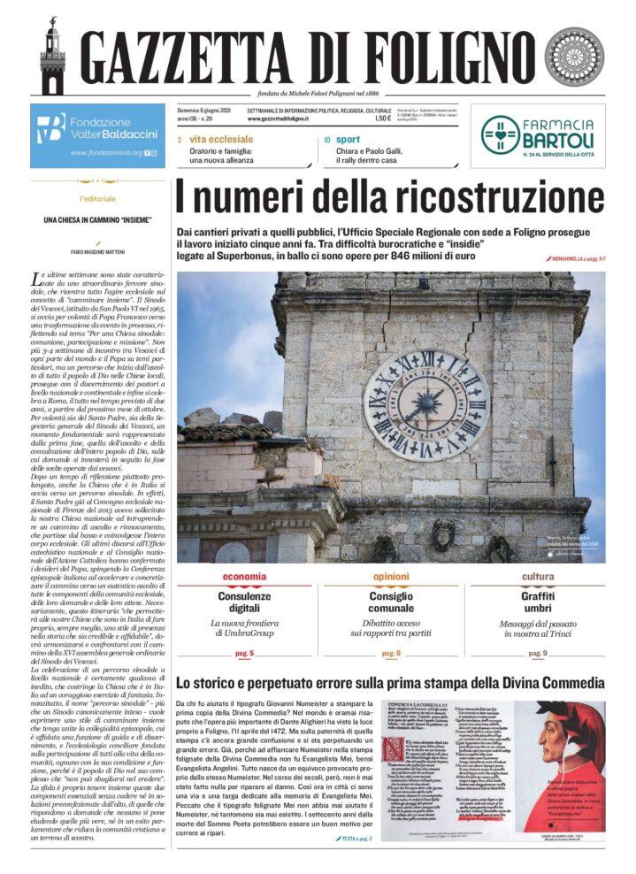 Gazzetta di Foligno n. 20 6 giugno 2021_12 pagine_rev 2 1